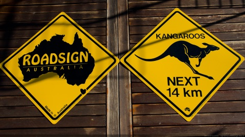 Down Under road signs