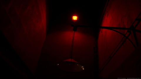 Red light, red wall