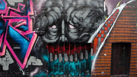 Street art in Hosier Lane Melbourne