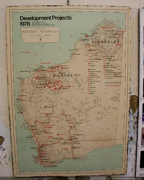 Western Australia map 1978